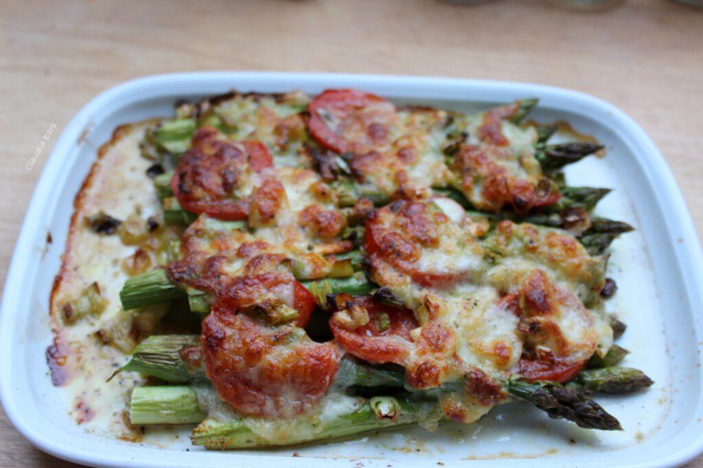 Grüner Spargel aus dem Ofen - schnell und lecker