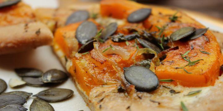 Kürbis-Pizza – deftig vegetarisch