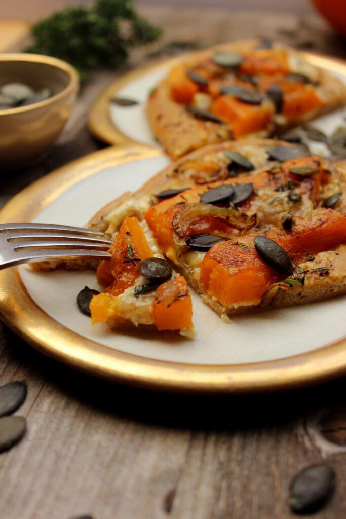 Kürbis-Pizza - deftig vegetariscgh