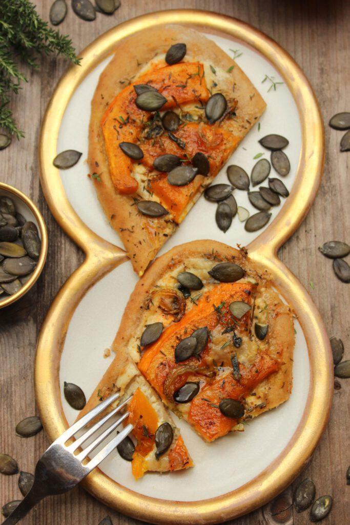 Kürbis-Pizza - deftig vegetarisch