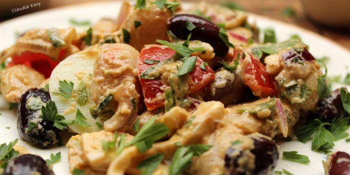 Weiße-Bohnen-Salat mit Tahin-Sauce