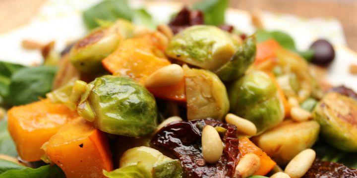 Rosenkohl-Kürbis-Salat