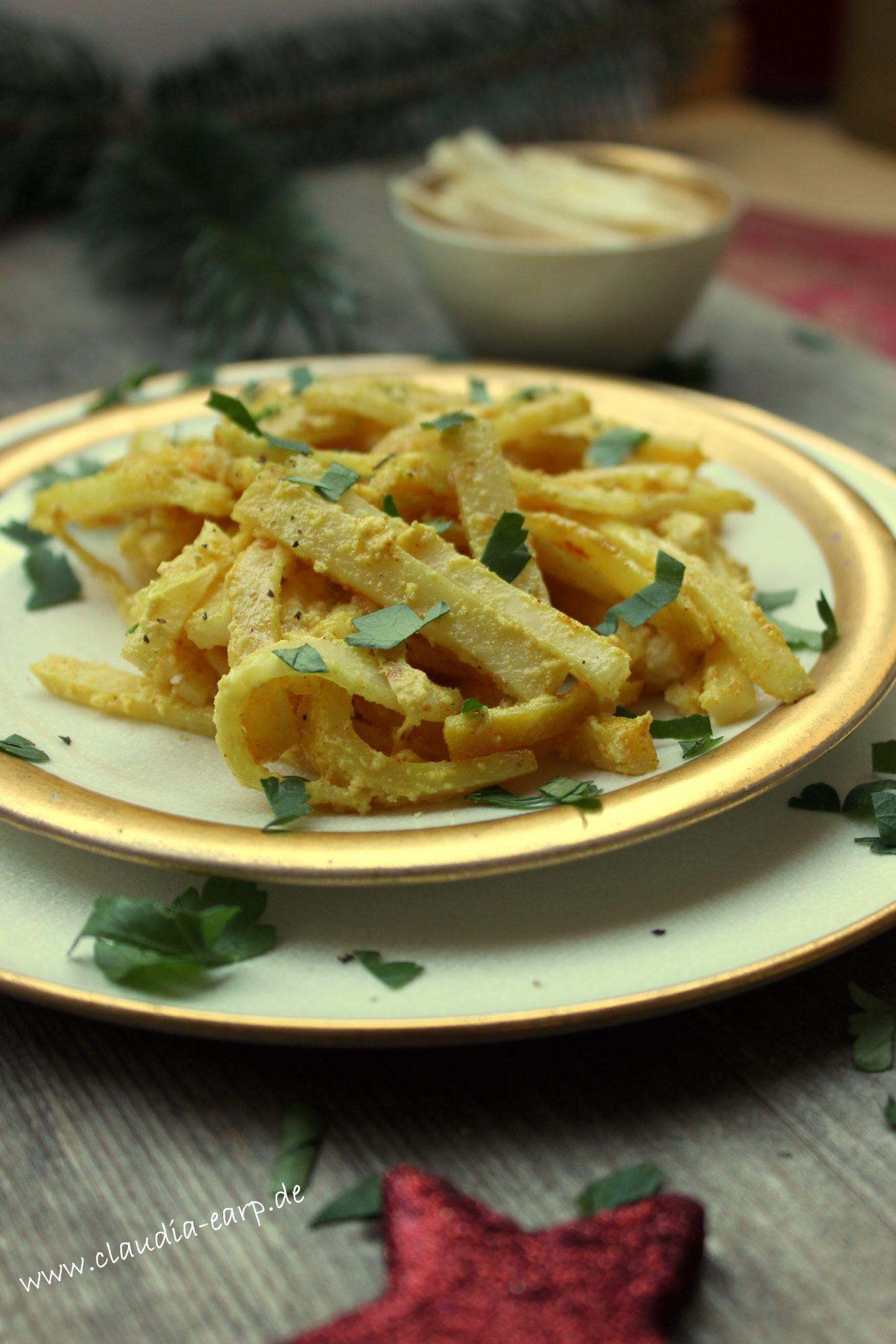 Selleriegemüse mit Zitrone - eine leckere Beilage zum Weihnachtsessen