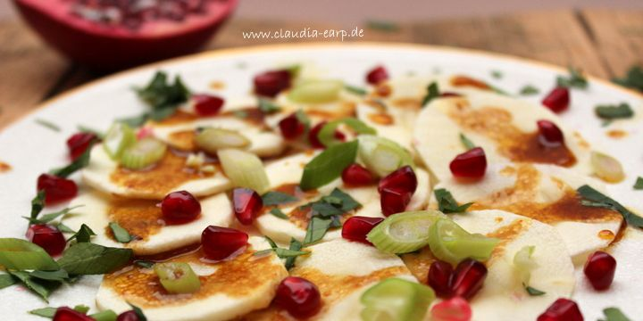 Pastinaken-Granatapfel-Carpaccio