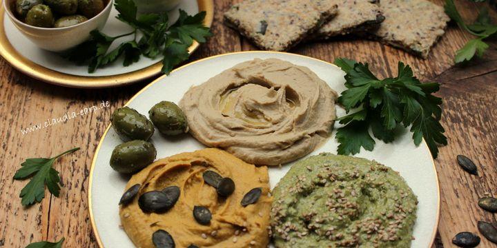 Geht immer: Hummus in drei Varianten