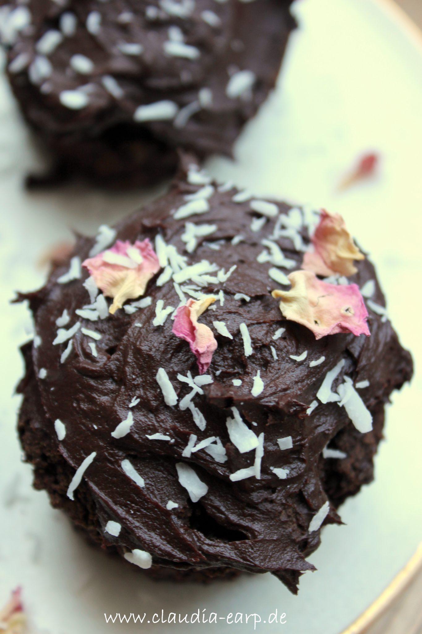 Vegane Schokoladen-Cupcakes mit Süßkartoffel