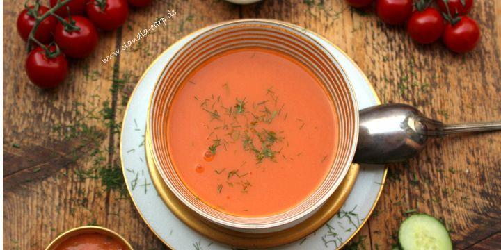 Kalte Suppe für heiße Tage: andalusische Gazpacho