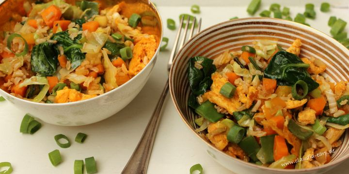 Gebratener Reis mit extra viel Gemüse