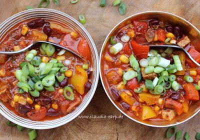 Chili sin Carne – mit Räuchertofu