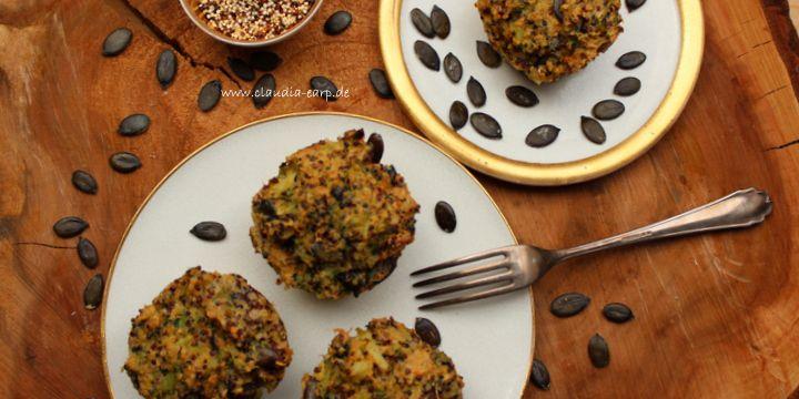 Quinoa-Brokkoli-Muffins mit Kürbiskernen