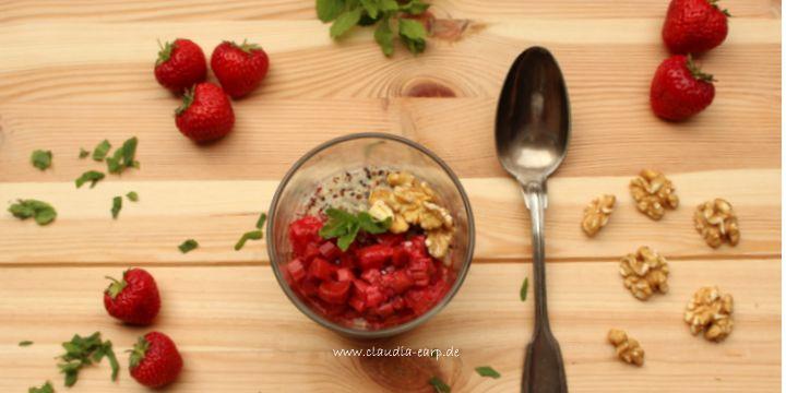 Süßes Quinoa-Frühstück mit Obst – die Extra-Portion Eisen