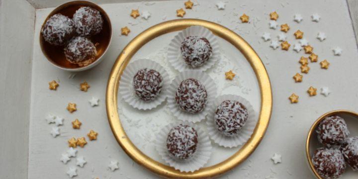 Schokoladen-Kokos-Pralinen – vegan