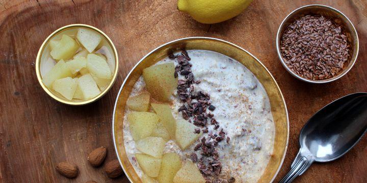 Winter-Soulfood – Hafer-Porridge mit Apfel und Birne